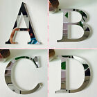 Silver Mirror Letters Wall Stickers Home Bedroom Decals Decor Acces Art