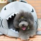 Cute Shark Mouth Teddy Pet Dog Cat Bed House Doggy Puppy Warm Kennel Cushion Pad