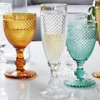 Wine Glass Vintage Colorful Relief Goblet Engraving Cup Household Wedding Gift