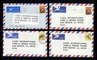 4 Lions Club of South Africa Covers to Oakbrook, IL USA 1975 to 1977 - Lot # 2
