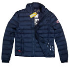 SUPERDRY NEUE HERREN JACKE NAVY JACKET MODELL: FUJI TRIPLE ZIP THROUGH NAVY BLUE