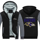 Baltimore Ravens Fan Hoodie Fleece zip up Coat winter Jacket warm Sweatshirt hot $37.99 USD on eBay