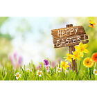Easter Photography Backdrop Wooden Floor Spring Flowers Photo Background Studio