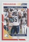 2011 Score Red Zone #244 Shaun Phillips San Diego Chargers Football Card $1.17 USD on eBay