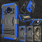 For Samsung Galaxy J2 Core Phone Case Hybrid TPU Clip Holster Stand Armor Cover
