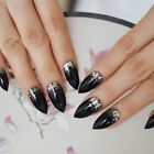 UV Gel Press On Nails With Glitters Women False Nail Tips Manicure Art Tools New