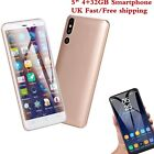 "5"" Android 6.0 4+32g Mobile Phone Unlocked 3g Smartphone Quad Core Wifi Dual Sim"