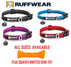 Ruffwear Hoopie Dog Collar - Various Sizes - Various Colours & Knotted Toy Bone