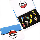 Anime Pokemon Gym Badges 8Pcs Pins League Brooch Collection With Box Kids Toy