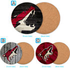 Arizona Coyotes Wooden Coaster Pad Cup Mug Mat Placemat Table $3.49 USD on eBay