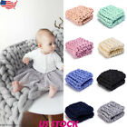 Giant Chunky Blanket Knit Throw Thick Yarn Wool Knited Home Arm Blanket Gift USA image