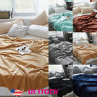New Super Soft Warm Solid Micro Bedding Plush Fleece Blanket Throw Sofa Bedding image