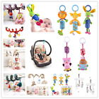 Cute Plush Crib Stroller Baby Pram Bed Rattle Hanging Animal Rabbit Star Toys