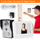"Wired 7"" Color Video Door Phone Doorbell Entry Intercom Home Security System IR"