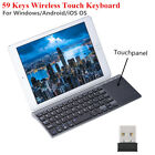 Slim Wireless 2..4Ghz 1200DPI Keyboard with Touchpad Universal For Laptop PC