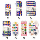 Mokeelo 10/12/16/28/36 Colors Solid Watercolor Pigment Set With Brush Set