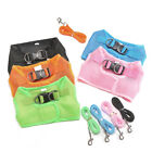 Puppy Dog Cat Vest Type Harness Collar Mesh Breathable Pet Walking Leash Novelty