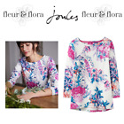 Joules | Ladies Harbour Jersey Top | Cream Floral | Womens | Free P&P