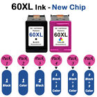 Ink Cartridge Black & Color For HP 60XL 61XL 63 XL 65 XL 62 XL-With New Chip