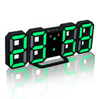 3D Digital White LED Skeleton Wall Clock Time 24/12 Hour Display Modern Large