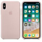 Original Silicone Case Luxury For Apple iPhone 8 Plus X 7 6 Genuine OEM Cover
