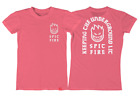 Внешний вид - Spitfire Wheels Steady Rockin Coral Pink / White Womens Skateboarding T-Shirt