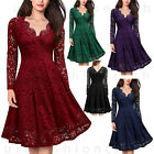 Kyпить Women's Vintage Lace V Neck Formal Wedding Cocktail Evening Party Swing Dress на еВаy.соm