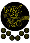 May the 4th Be With You Cake and Cupcake Topper, Star Wars, Children's Birthday