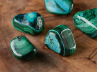 MALACOLLA (Malachite & Chrysocolla) Tumble - One M, L, XL Malachite Stone E1267