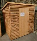Pinelap Heavy Garden Shed Wooden Overlap Pent Hut With a 19mm Thick Floor