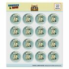 Beer It's a Vacation in a Can Funny Puffy Bubble Scrapbooking Sticker Set