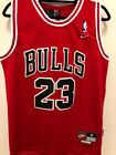 Youth / Men's Michael Jordan #23 Throwback Chicago Bulls Vintage Red Jersey NWT