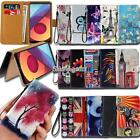 Folio Leather Stand Wallet Card Cover Case For Various LG SmartPhones + Strap