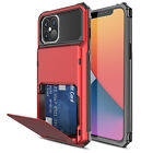For iPhone 12 Pro Max 12 Mini Protective Case Cover With Card Wallet Holder Slot