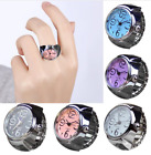 Creative Fashion Steel Round Elastic Quartz Finger Ring Watch Lady Girl Gift image