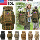 80L Outdoor Military Rucksacks Tactical Backpack Camping Travel Bag hiking