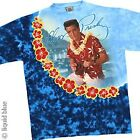 ELVIS PRESLEY-BLUE HAWAII-2 sided TIE DYE TSHIRT Med The KING, Vintage-Last One