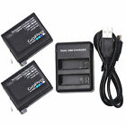 GoPro AABAT-001 Battery + Charger For GoPro Hero 7 Hero 6 Hero 5 Black camera US