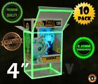"""ATV Glow  Protectors / Cases for 4"""" Funko Pop Vinyl (Pack of 10 or 1)  <br/> PREMIUM QUALITY / TOP D-LOCK / 0.45 mm THICKNESS / GITD"""