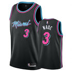 New Men's Miami Heat Basketball Jersey #3 Dwyane Wade black S-XXL on eBay