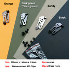 """1.5mm 0.06"""" x150mm x300mm KYDEX plank with clip and screws  brass nail"""