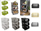 3Tier Plastic Staker Storage Baskets Stacking Vegetables Rack Kitchen Organizer