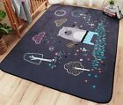 Cartoon Baby Play Mat Carpet Kids Children Bedroom Rugs Thick Suede Living Room