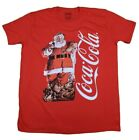 COCA COLA CLASSIC SANTA CLAUS CHRISTMAS T-SHIRT RED MENS RETRO HOLIDAY TEE $12.59  on eBay