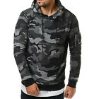 Men Fashionable Hoodie Cool Camouflage Sweater Casual Camo Pullover