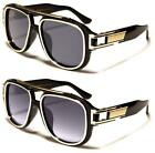 CHUNKY FLAT TOP SUNGLASSES PILOT BROW BAR LUXURY LARGE BIG RETRO UV400 MEN WOMEN