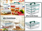 Set of 5 BPA Free Plastic Storage Box Food Container Picnic Lunch Boxes
