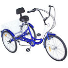 "20/24/26"" Adult Tricycle 1/7 Speed 3-Wheel For Shopping W/ Installation Tools <br/> Single Speed+7 Speed multi-Option✅ Shimano Drivetrain✅"
