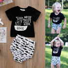 Toddler Baby Boy's Girl's Shark Print Short Sleeve T-shirt Top + Shorts 2Pcs/Set