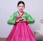 Womens Korean Hanbok Dress Costume Ethnic Dance Traditional Long Sleeve Cosplay